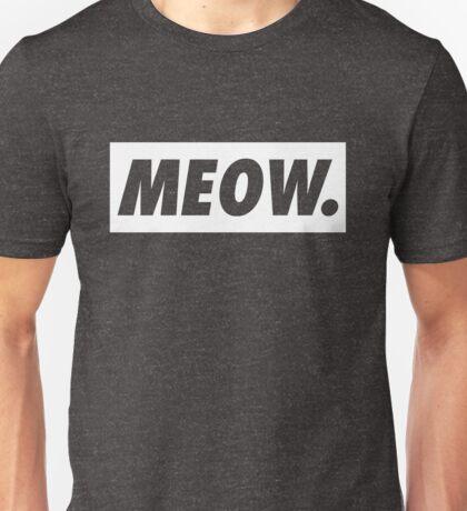 MEOW - version 2 - white Unisex T-Shirt