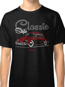 Classic Style. VW Beetle (red) Classic T-Shirt