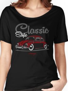Classic Style. VW Beetle (red) Women's Relaxed Fit T-Shirt