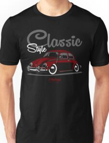 Classic Style. VW Beetle (red) Unisex T-Shirt
