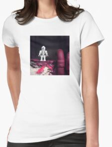 ::: { THE SKELETON } ::: Womens Fitted T-Shirt