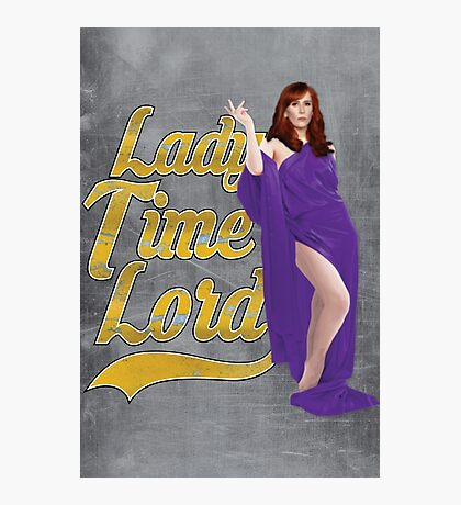 Lady Time Lord Photographic Print