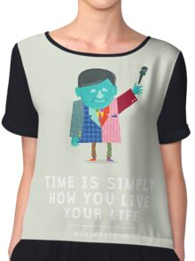 Live Your Life with Craig Sager Chiffon Top