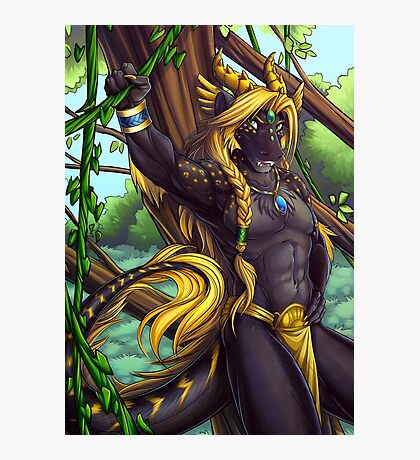 Forest Guardian Dragon Photographic Print
