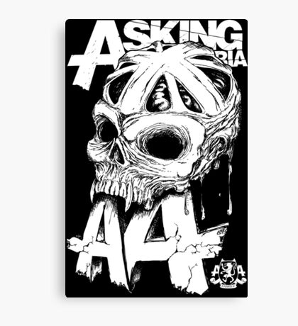 Asking Alexandria England Skull  tshirt and hoodie Canvas Print