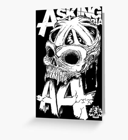 Asking Alexandria England Skull  tshirt and hoodie Greeting Card