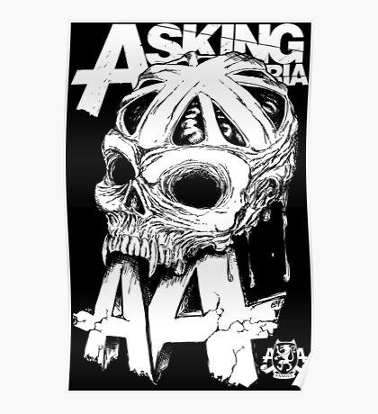Asking Alexandria England Skull  tshirt and hoodie Poster