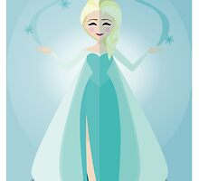 Symmetrical Princesses: Elsa by Jennifer Mark