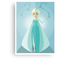 Symmetrical Princesses: Elsa Canvas Print