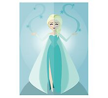 Symmetrical Princesses: Elsa Photographic Print