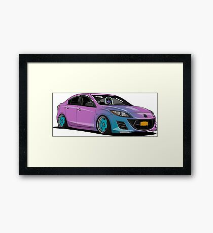 Mazda 3 Framed Print