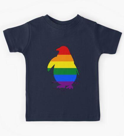 Rainbow Penguin Kids Tee