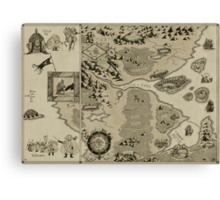 Old Worldly Map Canvas Print