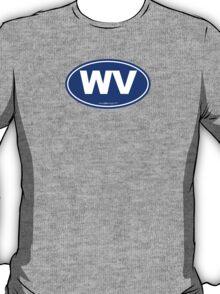 Washington State WA Euro Oval BLUE T-Shirt