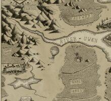 Old Worldly Map Sticker
