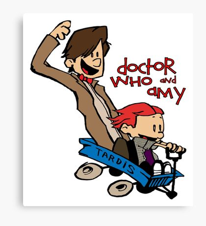 Doctor Who and Amy Canvas Print