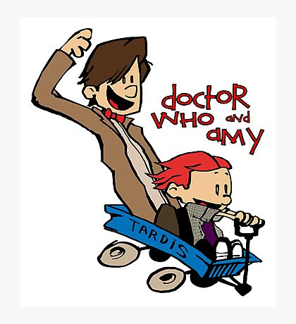 Doctor Who and Amy Photographic Print