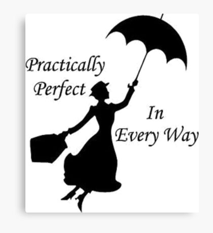 Walt Disney's Mary Poppins design Canvas Print