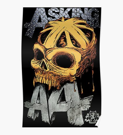 Asking Alexandria Colored England Skull  tshirt and hoodie Poster