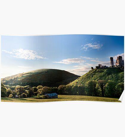 Corfe Castle in Dorset UK Poster