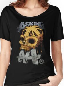 Asking Alexandria Colored England Skull  tshirt and hoodie Women's Relaxed Fit T-Shirt