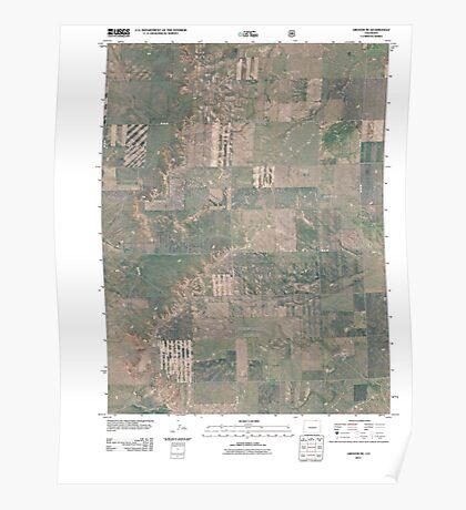 USGS TOPO Map Colorado CO Grover NE 20110114 TM Poster