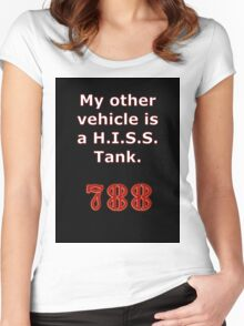 My other vehicle is a H.I.S.S. Tank Sticker Alternative Women's Fitted Scoop T-Shirt