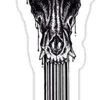 Anxiety/canine Skull Sticker