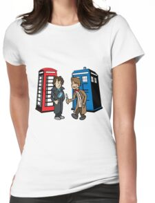 Doctor Who and Sherlock Womens Fitted T-Shirt