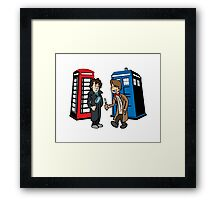 Doctor Who and Sherlock Framed Print