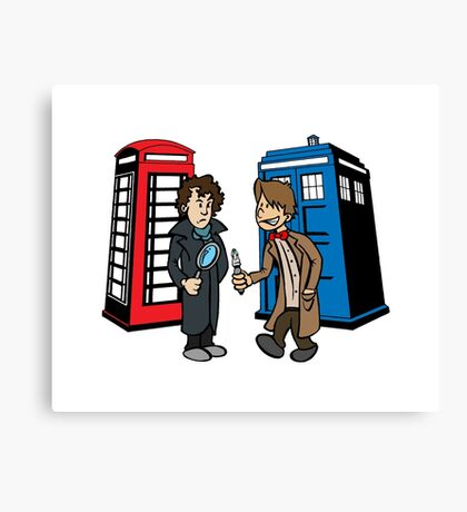 Doctor Who and Sherlock Canvas Print