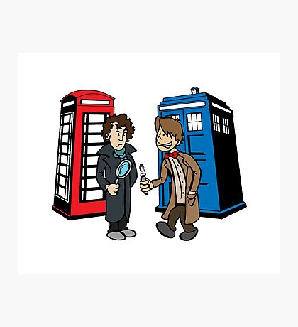 Doctor Who and Sherlock Photographic Print