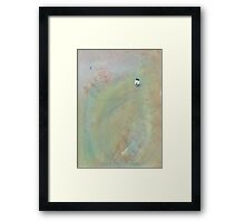 Quiet conversation with the moon on a misty morning Framed Print
