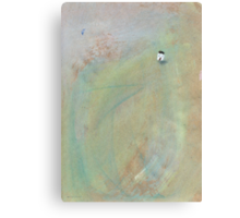 Quiet conversation with the moon on a misty morning Canvas Print