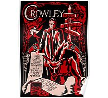 Crowley Woodcut Poster