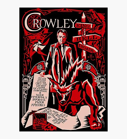 Crowley Woodcut Photographic Print