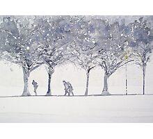 Snowy Meadows Photographic Print