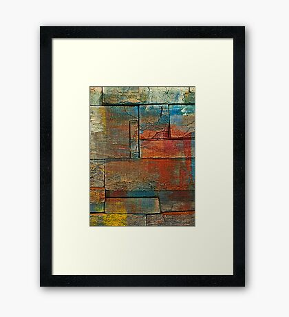 Up Against the Wall Framed Print