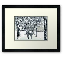 Meadows Snow Framed Print