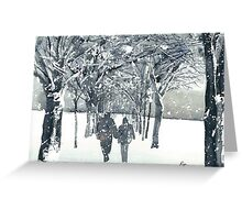 Meadows Snow Greeting Card