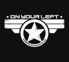 """On Your Left"" Version 5 Distressed Print (also available in blue on white) Kids Clothes"