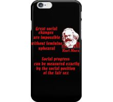 Karl Marx on Women iPhone Case/Skin