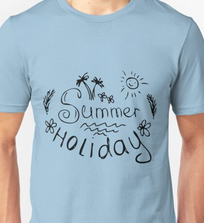 Summer typography with beach icons Unisex T-Shirt