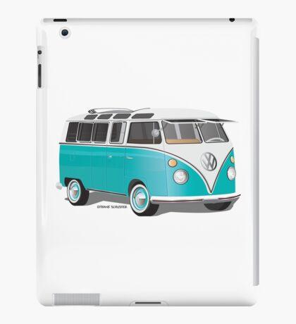 Split VW Bus Teal Hippie Van iPad Case/Skin