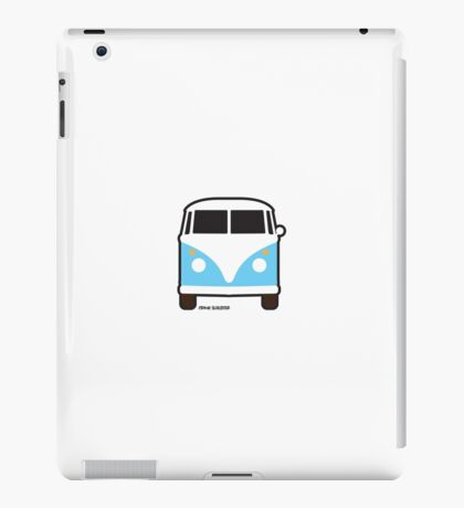 Split VW Bus Front Blue Hippie Van iPad Case/Skin