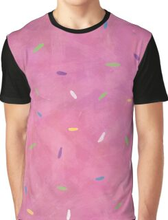 Pink Frosting Sprinkles Graphic T-Shirt