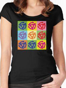 Pop Art Vinyl Record 45 Holder Women's Fitted Scoop T-Shirt