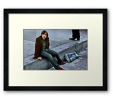 Jason Schwartzman Kicks it to the Curb Framed Print