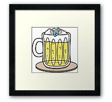 HeinyR- Blue Mouse Drunk Framed Print