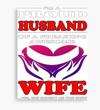 Awesome Floridian Wife Canvas Print